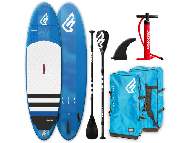 """Fanatic Fly Air Paquete 10'4"""" Tabla Stand Up Inflable con Palas y Bomba"""